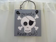 Handmade 'Private keep out' wooden plaque on Etsy, £5.50