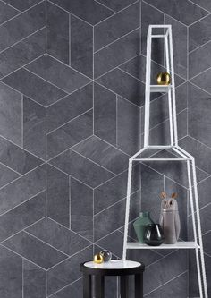 Storm is a realistic representation of ancient slate, the four grey scale colours in this range reflect the natural oxidation process in slate formation, and also contain fragments of other stones – like Brazilian quartzite, which interact with the changing light to give a free flowing quality to the tiles and an air of elegance to your space.   The four stunning complementary decor tiles in this range draw on the current trend for geometric patterns and 3D textured tiles.