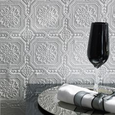 raham & Brown - Small Squares Paintables Wallpaper. This versatile wallpaper is great for ceilings or walls and is paintable to coordinate with any decor!