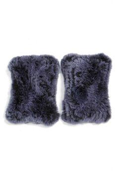 c11fe6e7e132e Linda Richards Ribbed Knit Hat Fur Pom Pom