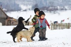 romania - winter on the street - iarna pe ulita Romania People, Kids Around The World, Countries Of The World, Animals For Kids, Little Boys, Cool Pictures, Childhood, Tourism, Children