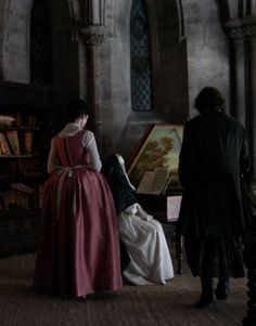 Claire & Jamie Fraser seek Mother Hildegard's help to decode a musical message.