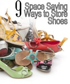 11 Space-Saving Ways to Organize Your Shoes 9 Space Saving Ways to Store Shoes Organizing Your Home, Organising, Organizing Tips, Diy Storage, Storage Ideas, Shoe Storage Solutions, Store Shoes, Do It Yourself Home, Staying Organized