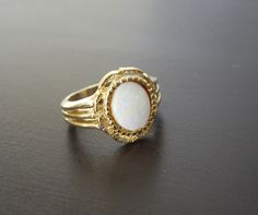 Vintage Cocktail Ring with Faux Opal by LisaWitmerCollection, $9.00