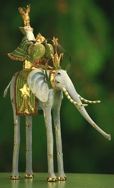 Krinkles by Patience Brewster, Magi on Elephant Figure
