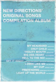 New Directions' original songs XD