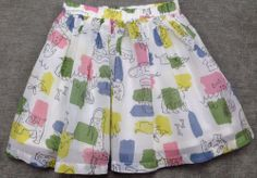 "$24.99 Perfect Spring Skirt! Multiple sizes available in our store!! New Mini Boden Skirt ""Dog Splash"" Twirl Girl Size 5 6 NWT Lined Spring"