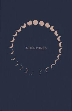 moon phases Art Print by emmitoufler Illustrations, Illustration Art, Moon Phases Art, Green Moon, Moon Quotes, Moon Calendar, Mandala Tattoo, Tattoo Art, Bubble Art