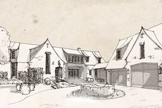 Innovative sketches and dreamworks by McCown Design French Country Exterior, French Country Cottage, French Country Decorating, Cottage Style, Cottage Floor Plans, Country House Plans, English Architecture, Architecture Details, Architecture Drawing Sketchbooks