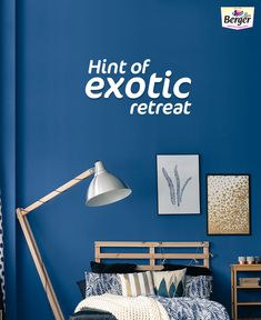 Let your bedroom wall paint reflect the feeling of an exotic retreat place and keep you calm.