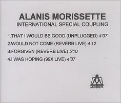 For Sale - Alanis Morissette International Special Coupling UK Promo  CD-R acetate - See this and 250,000 other rare & vintage vinyl records, singles, LPs & CDs at http://991.com