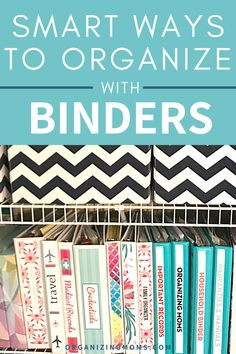 How to organize your paperwork with binders. A great way to have everything easily accessible. Set up your own binder organization system today. #organizingmoms Organize Your Life, Organizing Your Home, Cord Holder, Organized Mom, Binder Organization, Family Organizer, Stress Free, Declutter, Life Hacks