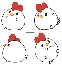 Comment dessiner un dessin mignon dessin tres facile idee quoi dessiner mignon How to draw a cute drawing drawing very easy idea what to draw cute Griffonnages Kawaii, Kawaii Bunny, Cute Kawaii Animals, Cute Cartoon Animals, Doodle Drawings, Easy Drawings, Doodle Art, Chicken Drawing, Chicken Art