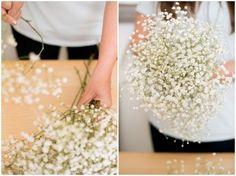 Nicole's wedding: DIY Baby's Breath Bouquet + Boutonniere   The Budget Savvy Bride