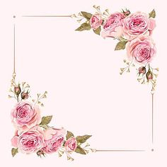 Flowers Pink Background Floral Ideas For 2019 Art Floral, Frame Floral, Flower Frame, Flower Art, Frame With Flowers, Floral Card, Art Flowers, Free Watercolor Flowers, Watercolor Wallpaper
