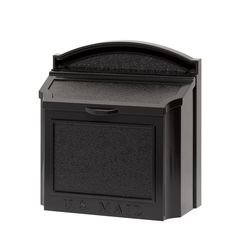 Whitehall Products Locking Wall Mounted Large Mailbox, Black: Made from weather-resistant aluminum Available in a variety of colors Features removable locking flap Dimensions: x x inches Large Mailbox, Mailbox Post, Wall Mount Mailbox, Mounted Mailbox, Black Walls, White Walls, Post Box Wall Mounted, Whitehall Products, Address Plaque