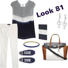 MAS TENDENCIAS BCN: Look 81 - inspiración marinera outfit casual blanc...