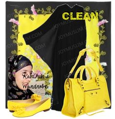 Hijab outfit!How To Wear Traditioanl Muslim Dressing & Hijab | joyMuslim!Traditional black dress is classy and adorable espacially when wearing them with flower hijab and yellow leather bag and yellow flat shoes. They can be very suitable for work and everyday life beacause they adds some elegance and fernimity.