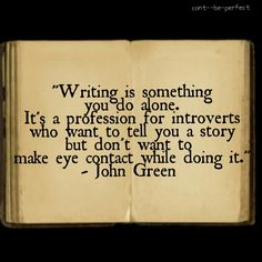 John Green on writing and books.