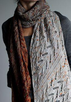Knitting Patterns Scarves Ravelry: Amber Equinox pattern by Jenny F Knitted Shawls, Crochet Scarves, Knit Crochet, Crotchet, Knitting Projects, Knitting Patterns, Scarf Patterns, Knitting Ideas, Wrap Pattern