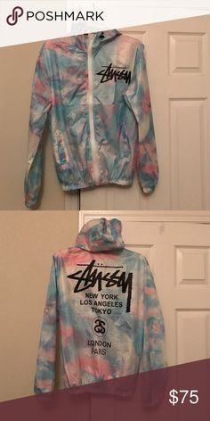 Stussy Cotton Candy Windbreaker Never worn, great condition, tag still in jacket. Stussy Jackets & Coats