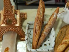 Handmade Miniature Ficelle Breads of France  by JansPetitPantry