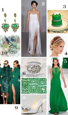 """Take me away to """"Oz"""", emerald does the trick...check out the Elie Saab number to die for!!!"""