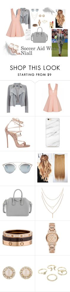 """""""Soccer Aid With Niall"""" by izmenigarza ❤ liked on Polyvore featuring Mint Velvet, Dsquared2, Christian Dior, Givenchy, Cartier, Burberry, Kate Spade, Lipsy and Yves Saint Laurent"""