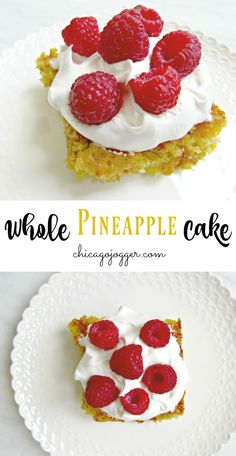 Whole Pineapple Cake - This sweet and tart dessert recipe is perfect for spring or summer and uses an entire fresh pineapple.   Chicago Jogger