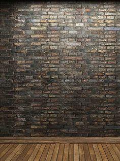 122 Brown Gray Brick Wall Printed Backdrop