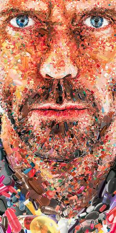 Awesome Mosaic Illustrations by Charis Tsevis | Inspiration Grid | Design Inspiration