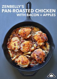 Zenbelly's Pan-Roated Chicken with Bacon and Apples by Michelle Tam http://nomnompaleo.com