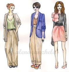 illustration sketch fashion watercolors