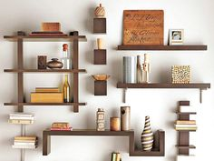 creative way to display collections, photos, books, etc