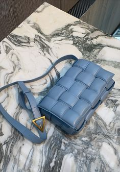 Bottega Veneta Padded Cassette bag in blue My Bags, Purses And Bags, Bag Women, Fendi, Valentino, Autumn Street Style, Balenciaga, Wow Products, Shoes