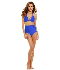 Gianni Bini Fan Favs Slider Halter Top & High-Waist Bottom