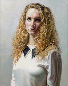 Lambert - 'Portrait of Ysabel', 2014. Oil on panel, 40 x 50 cm