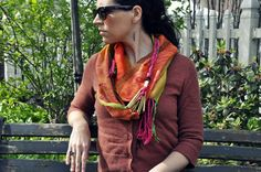 One of a kind handwoven scarf by Amber Kane. Scarf name: Alexandria