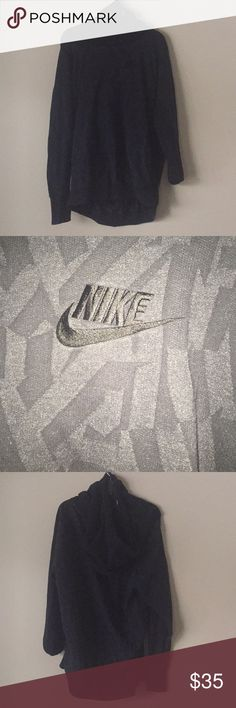 Nike long necked hoodie 80% cotton 20% polyester Long necked design Nike hoodie Great condition Never worn Nike Sweaters
