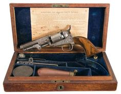Factory Engraved and Cased First Year Production Colt Model 1849 London Model Percussion Revolver wi Revolver, Guns Dont Kill People, London Models, Lever Action, Home Defense, Airsoft Guns, Guns And Ammo, American Civil War, Old West