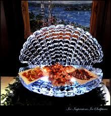 Clam Shell Ice Sculpture,