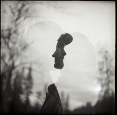 """""""on the other side of you is me"""" Double exposure on Tri-X with Yashica TLR."""