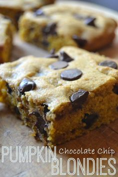 These are my new favorite pumpkin recipe...the perfect combination of pumpkin and chocolate...