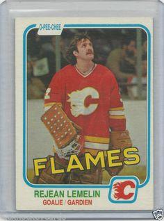 REJEAN LEMELIN RC 1981-82 OPC CALGARY FLAMES # 44 NM
