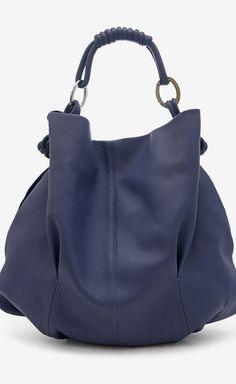 Giorgio Armani Persian Blue Handbag | VAUNTE $395, down from $1680! Needs a shoulder strap!