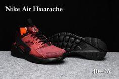 9c01ed1521edc4 Winter Men s Nike Air Huarache Run Ultra PK4 KPU Casual Sports Shoes Red    Black