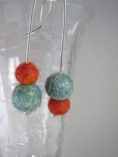 blurosestudio rev felt earrings