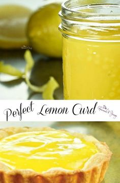 Perfect Lemon Curd is easy to make. Smooth, creamy, refreshing with the perfect sweet-tart lemon flavor. Lemon Desserts, Köstliche Desserts, Lemon Recipes, Delicious Desserts, Yummy Food, Lemon Curd Dessert, Lemon Cake Filling, Fast Recipes, Potato Recipes