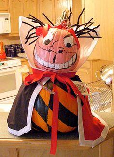 Queen of Hearts Decorated Pumpkin