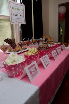 Ice Cream Parlour Party. Such a great idea and so many cute ideas!!  //Beautiful Life Made Easy
